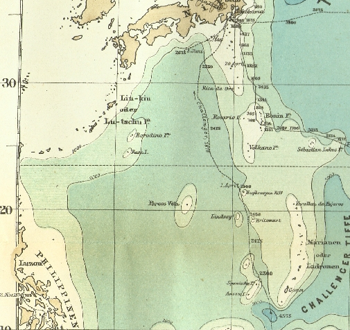 The First Bathymetric Chart Of The East China Sea